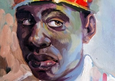 Man in Colored Hat