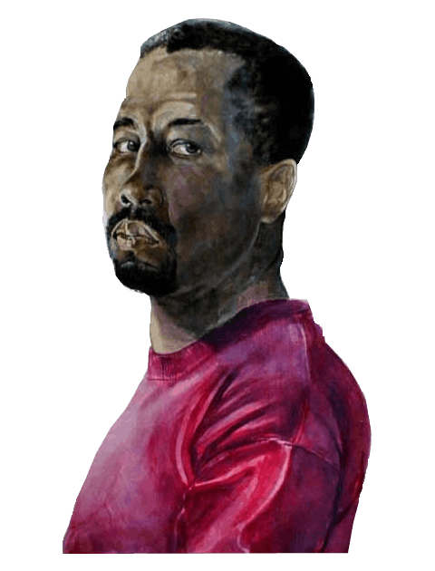 Self Portrait of the artist, Dr. Anthony H. Brown - Watercolor