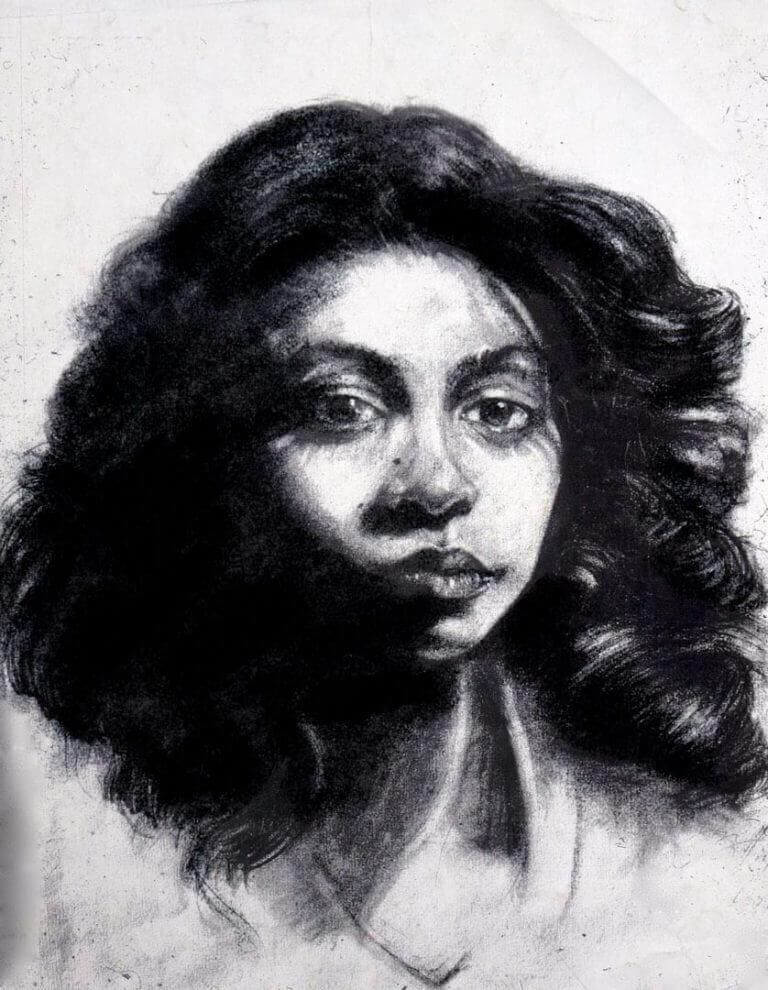 Charcoal Drawing of Sheila A Schultz